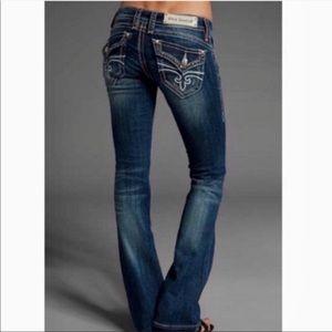 Rock Revival Heather Boot Dark Wash Jeans 29